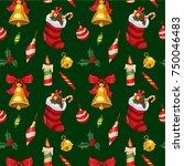vector seamless pattern... | Shutterstock .eps vector #750046483
