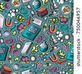 cartoon cute hand drawn science ...   Shutterstock .eps vector #750046957