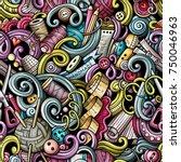 cartoon cute doodles hand drawn ...   Shutterstock .eps vector #750046963