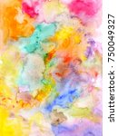 abstract watercolor colorful...   Shutterstock . vector #750049327