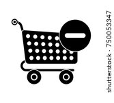 shopping cart deleting icon | Shutterstock .eps vector #750053347