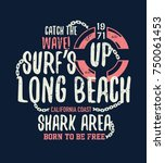 shark illustration with typo... | Shutterstock .eps vector #750061453
