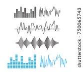 wave sound pattern. sound waves ...   Shutterstock . vector #750065743