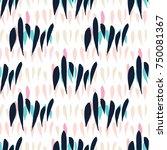 chevron brush strokes seamless... | Shutterstock .eps vector #750081367