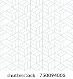abstract geometric pattern with ... | Shutterstock .eps vector #750094003