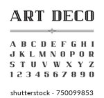 Vector Of Art Deco Font And...