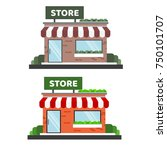 small store vector icon... | Shutterstock .eps vector #750101707