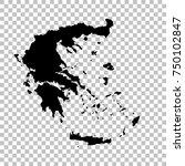 vector map greece. isolated... | Shutterstock .eps vector #750102847