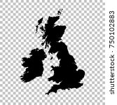 vector map great britain.... | Shutterstock .eps vector #750102883