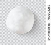 realistic snow ball vector... | Shutterstock .eps vector #750105253