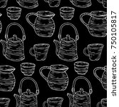 tableware set illustration.... | Shutterstock . vector #750105817