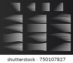 speed lines isolated. set of... | Shutterstock .eps vector #750107827