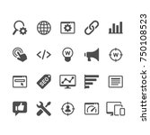 search engine optimization... | Shutterstock .eps vector #750108523