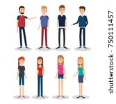 group of persons avatars... | Shutterstock .eps vector #750111457