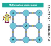mathematical puzzle game.... | Shutterstock .eps vector #750117493