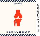 knee joint icon | Shutterstock .eps vector #750137803