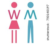 restroom vector icons. man and... | Shutterstock .eps vector #750140197