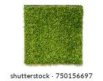 artificial green grass in... | Shutterstock . vector #750156697