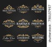 vintage royal flourish frame... | Shutterstock .eps vector #750157957