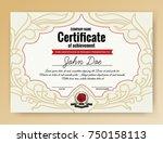 vintage elegant certificate of... | Shutterstock .eps vector #750158113