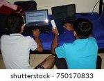 indian boys digital group study   Shutterstock . vector #750170833