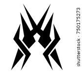 tattoo tribal designs. sketched ... | Shutterstock .eps vector #750175273