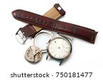 broken watch on white background | Shutterstock . vector #750181477