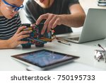 learning new stuff about... | Shutterstock . vector #750195733