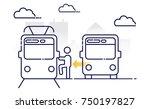 transport transfer. public... | Shutterstock .eps vector #750197827