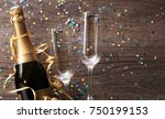 photo of two wineglasses ... | Shutterstock . vector #750199153