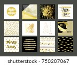 set of artistic creative... | Shutterstock .eps vector #750207067