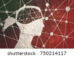 silhouette of a woman's head.... | Shutterstock . vector #750214117