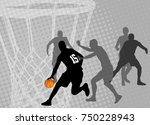 basketball on the abstract... | Shutterstock .eps vector #750228943
