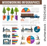 woodworking infographics... | Shutterstock .eps vector #750241483