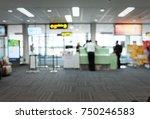 blur image of modern airport...   Shutterstock . vector #750246583