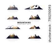 mountains abstract collection | Shutterstock .eps vector #750250093