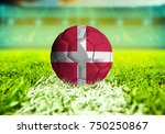 3d rendering football ball with ... | Shutterstock . vector #750250867