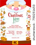 chistmas menu layout with... | Shutterstock .eps vector #750251653