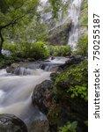 khlong lan waterfall  the... | Shutterstock . vector #750255187