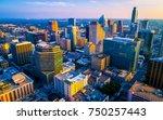 dream city of america as sunset ... | Shutterstock . vector #750257443