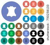 genuine leather symbol multi... | Shutterstock .eps vector #750258133