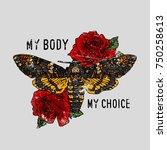 girl power  my body  my choice...   Shutterstock .eps vector #750258613