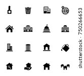 real estate icons set | Shutterstock .eps vector #750266653