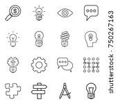 thin line icon set   dollar... | Shutterstock .eps vector #750267163