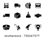 shipping icons set | Shutterstock .eps vector #750267577