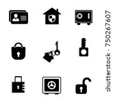 security icons set | Shutterstock .eps vector #750267607