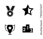 winner icons set | Shutterstock .eps vector #750267637
