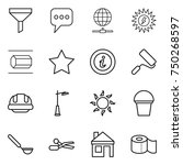 thin line icon set   funnel ... | Shutterstock .eps vector #750268597