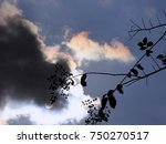 iridescent clouds with sun and... | Shutterstock . vector #750270517