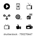 media icons set | Shutterstock .eps vector #750270667